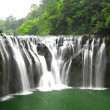 Waterfalls in shifen taiwan - Stock Photo