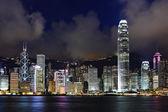 Hong Kong harbor view at night — Stock Photo