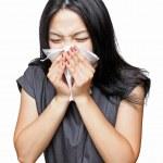 Sneeze girl — Stock Photo