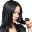 Young woman have hair problem — Stock Photo