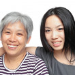 Smile mother and daughter — Stock Photo