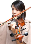 Young woman play violin — Stock Photo