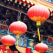 Red lantern in chinese temple — Stock Photo #9178554