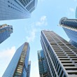 Stock Photo: Highrise buildings at Singapore
