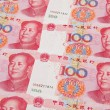 Renminbi (RMB) bank notes — Stock Photo