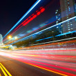 Traffic at city in night — Stock Photo