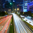 Night traffic light trail — Stock Photo
