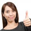 Woman with thumbs up — Stock Photo #9179686