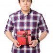 Stock Photo: Man give gift
