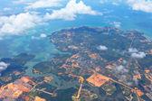 Aerial picture of non-urban city — Stock Photo