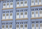 Window shutters in Chinatown of Singapore — Stock Photo