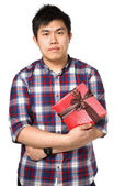 Man give gift — Stock Photo
