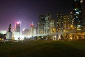 Hong Kong downtown city at night — Stock Photo