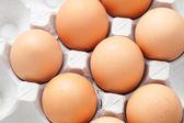 Ovos no pacote — Foto Stock