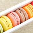 Stock Photo: Macaron in paper box