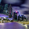 Night scene of Singapore — Stock Photo