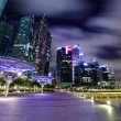 Stock Photo: Night scene of Singapore