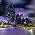 Night scene of Singapore — Stock Photo