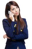 Asian woman on phone call — Stock Photo