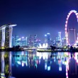 Singapore city skyline at night — Stock Photo #9525875