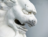 Chinese lion statue close up — Stock Photo