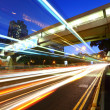 Light trail in city at night — Stock Photo