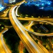 Highway at night in modern city — Stock Photo #9624652