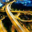 Stock Photo: Highway at night in modern city