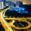 Highway at night in modern city — Stock Photo #9624664