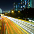 Highway in city at night — Stockfoto
