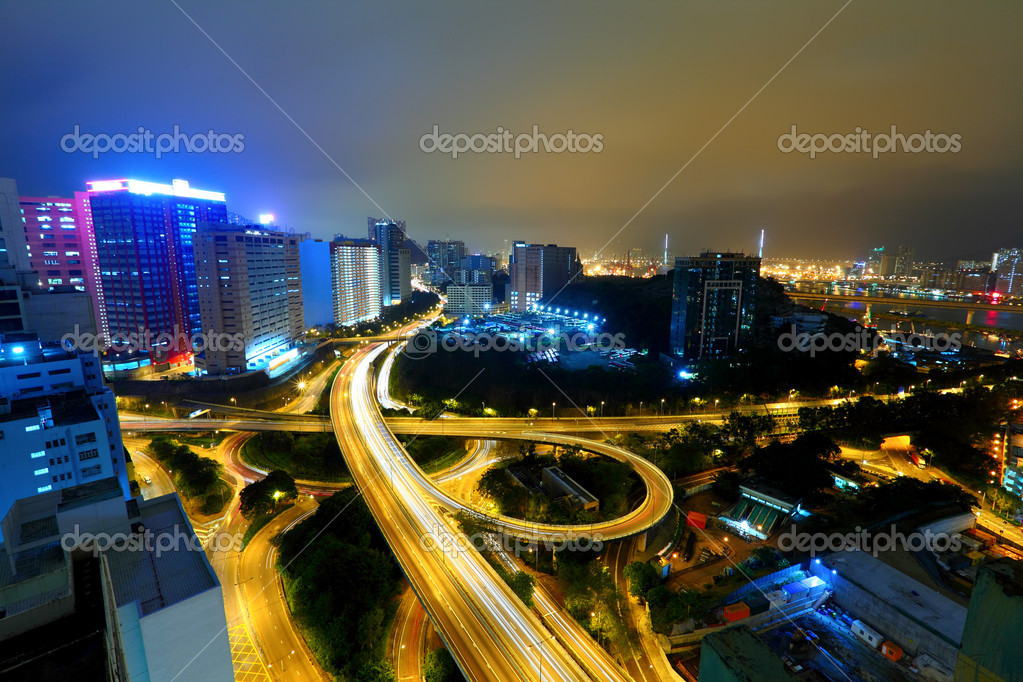 Highway in city at night — Stock Photo #9701535