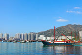 Boat in Hong Kong, Tuen Mun — Stock Photo