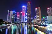 Ville de singapour de nuit — Photo