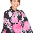 Young woman wearing Japanese kimono — Stock Photo