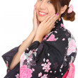 Stock Photo: Japanese womwith traditional clothing