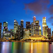 Royalty-Free Stock Photo: City night view for singapore