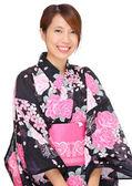 Young woman wearing Japanese kimono — Stock Photo