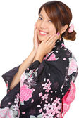 Japanese woman with traditional clothing — Stock Photo