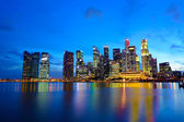 Singapore city at night — Stock fotografie