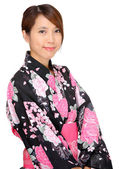 Donna in kimono, giappone panno — Foto Stock