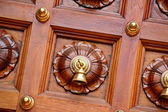 Temple door bells in india temple — Stock Photo