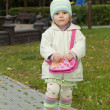 The child with a handbag — Stock Photo