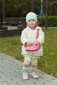 The child with a handbag — Stock Photo