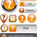 Question high-detailed modern buttons. — Stock Vector #10482195