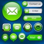 E-Mail high-detailed web button collection. — Stock Vector