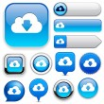 Cloud high-detailed web button collection. — Stock Vector