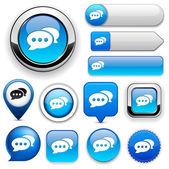 Forum high-detailed web button collection. — Stock Vector
