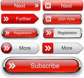 Collection de boutons avant web haute-détaillé. — Vecteur