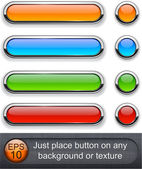 Rounded glossy buttons. — Stock Vector