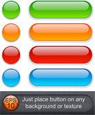 Parlak yuvarlatılmış düğmeler. — Stok Vektör